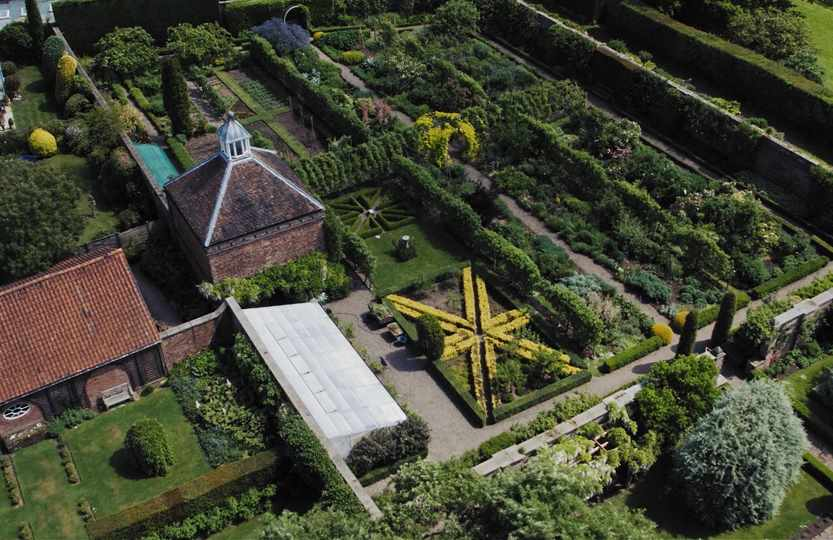 Middlethorpe Hall Gardens - walled garden from above.jpg
